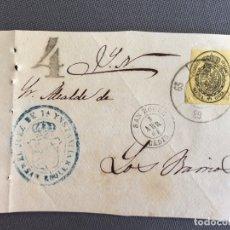 Sellos: LOTE DE 3 FRONTALES DE CARTAS SOBRES DE LOS BARRIOS , CADIZ 1861 , AL SR. ALCALDE N. 15. Lote 173068309