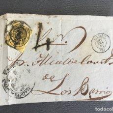Sellos: LOTE DE 3 FRONTALES DE CARTAS SOBRES DE LOS BARRIOS , CADIZ 1861 , AL SR. ALCALDE N. 23. Lote 173068795