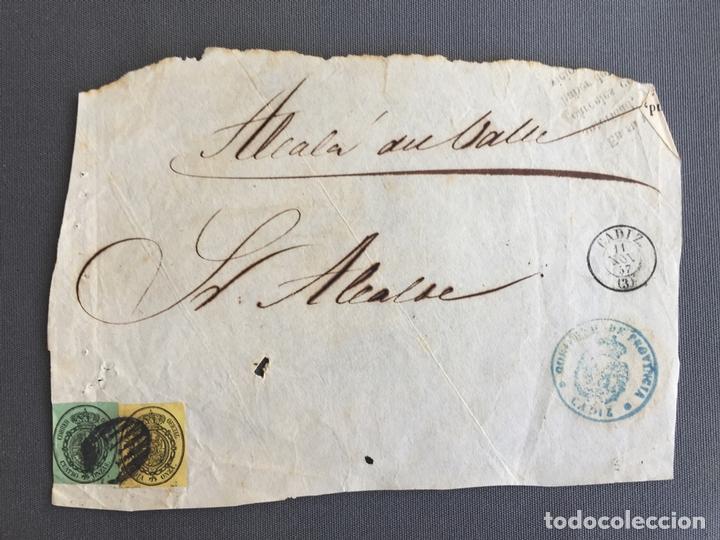 Sellos: LOTE DE 3 CARTAS , SOBRES DE ALCALÁ DEL VALLE , CADIZ 1857, 1860 , 1861 , AL SR. ALCALDE N. 27 - Foto 3 - 173071492