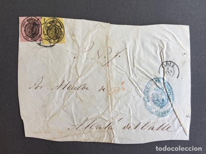 Sellos: LOTE DE 3 CARTAS , SOBRES DE ALCALÁ DEL VALLE , CADIZ 1860 , AL SR. ALCALDE N. 28 - Foto 3 - 173071572