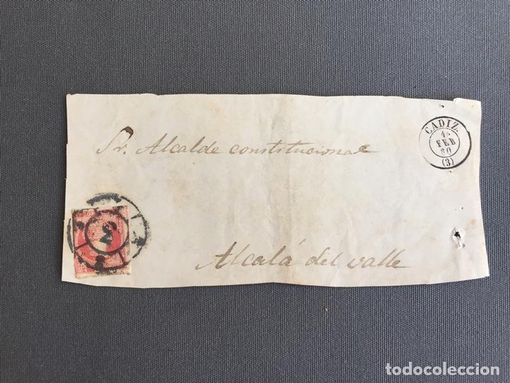 LOTE DE 3 CARTAS , SOBRES DE ALCALÁ DEL VALLE , CADIZ 1860 , AL SR. ALCALDE N. 28 (Sellos - España - Isabel II de 1.850 a 1.869 - Cartas)