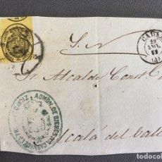 Sellos: LOTE DE 3 CARTAS , SOBRES DE ALCALÁ DEL VALLE , CADIZ 1859 , 1860 , AL SR. ALCALDE N. 29. Lote 173071669