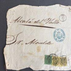 Sellos: LOTE DE 2 CARTAS , SOBRES DE ALCALÁ DEL VALLE , CADIZ 1860 , AL SR. ALCALDE N. 31. Lote 173071859