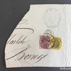 Sellos: CARTA , SOBRE DE BORNOS , CADIZ 1862 , AL SR. ALCALDE N. 37. Lote 173074883