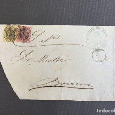 Sellos: CARTA , SOBRE DE BORNOS , CADIZ 1862 , AL SR. ALCALDE N. 40. Lote 173075093