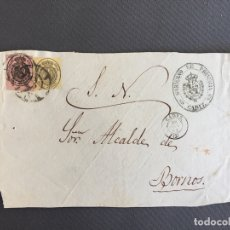Sellos: CARTA , SOBRE DE BORNOS , CADIZ 1862 , AL SR. ALCALDE N. 41. Lote 173075140