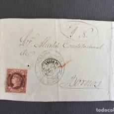 Sellos: CARTA , SOBRE DE BORNOS , CADIZ 1862 APROX. , AL SR. ALCALDE N. 43. Lote 173075260
