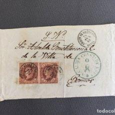 Sellos: CARTA , SOBRE DE BORNOS , CADIZ 1862 APROX. , AL SR. ALCALDE N. 44. Lote 173075344