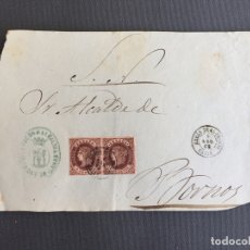 Sellos: CARTA , SOBRE DE BORNOS , CADIZ 1862. , AL SR. ALCALDE N. 46. Lote 173075437