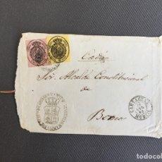 Sellos: CARTA , SOBRE DE BORNOS , CADIZ 1862 , AL SR. ALCALDE N. 49. Lote 173075650