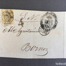 Sellos: CARTA , SOBRE DE BORNOS , CADIZ 1863 APROX . , AL SR. ALCALDE N. 53. Lote 173075890