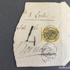 Sellos: CARTA , SOBRE DE BORNOS , CADIZ 1863 APROX . , AL SR. ALCALDE N. 54. Lote 173075948