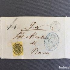 Sellos: CARTA , SOBRE DE BORNOS , CADIZ 1863 APROX . , AL SR. ALCALDE N. 55. Lote 173076025