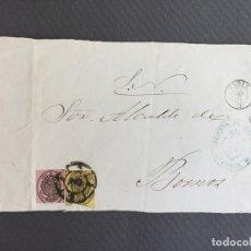 Sellos: CARTA , SOBRE DE BORNOS , CADIZ 1861 APROX . , AL SR. ALCALDE N. 56. Lote 173076094
