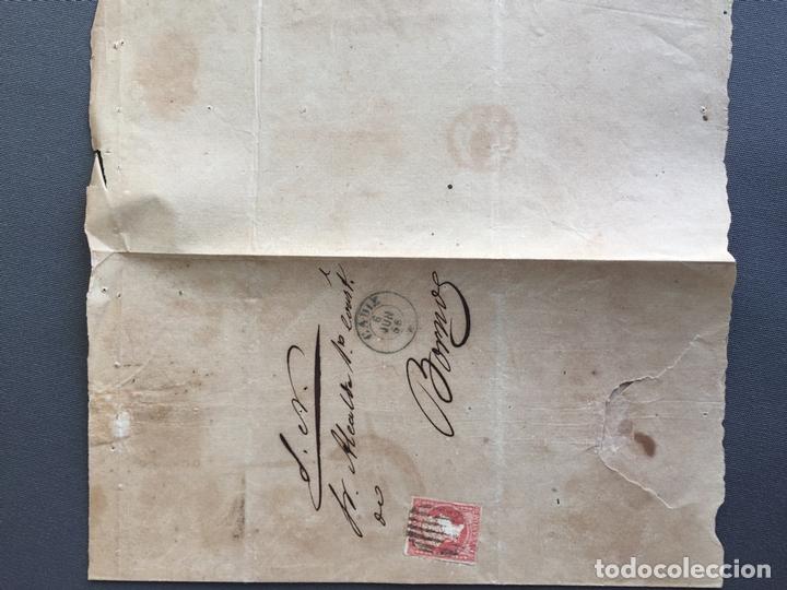 SOBRE CARTA SELLO BORNOS CADIZ 1856 AL ALCALDE N 57 (Sellos - España - Isabel II de 1.850 a 1.869 - Cartas)