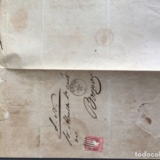 Sellos: SOBRE CARTA SELLO BORNOS CADIZ 1856 AL ALCALDE N 57 . Lote 173127904