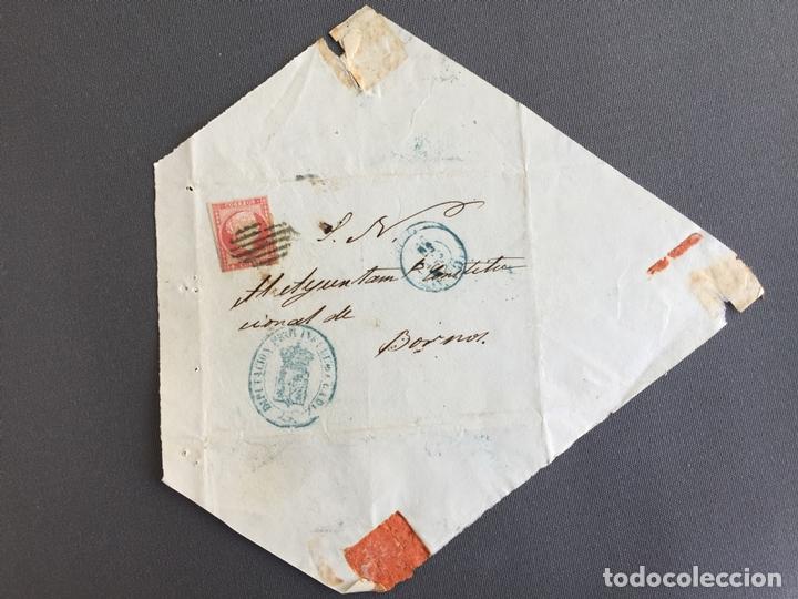 SOBRE CIRCULADO CARTA SELLO BORNOS CADIZ 1856 APROXIMADAMENTE AL ALCALDE N 58 (Sellos - España - Isabel II de 1.850 a 1.869 - Cartas)