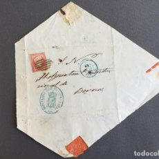 Sellos: SOBRE CIRCULADO CARTA SELLO BORNOS CADIZ 1856 APROXIMADAMENTE AL ALCALDE N 58 . Lote 173128205