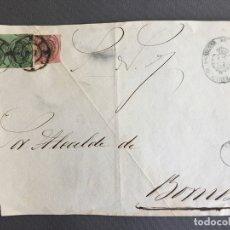 Sellos: SOBRE CIRCULADO CARTA SELLO BORNOS CADIZ 1860 APROXIMADAMENTE AL ALCALDE N 62. Lote 173128672