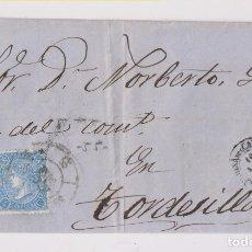 Sellos: ENVUELTA. RARA RUEDA DE CARRETA. MEDINA DEL CAMPO, VALLADOLID, 1865. Lote 173445518
