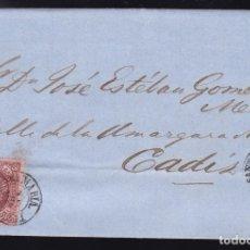 Sellos: F6-1- CARTA COMPLETA PUERTO DE SANTAMARIA CÁDIZ 1863. Lote 173609983