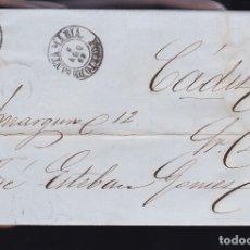 Sellos: F6-1- CARTA COMPLETA PUERTO DE SANTAMARIA CÁDIZ 1863. Lote 173609989