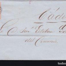 Sellos: F6-1- CARTA COMPLETA PUERTO DE SANTAMARIA CÁDIZ 1863. Lote 173609997