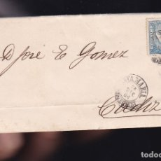 Sellos: F6-2- CARTA COMPLETA PUERTO DE SANTAMARIA CÁDIZ 1866. Lote 173610014
