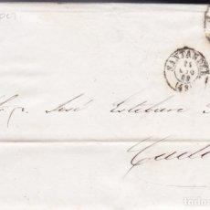 Sellos: F6-3- CARTA COMPLETA SANTANDER 1863. Lote 173610052