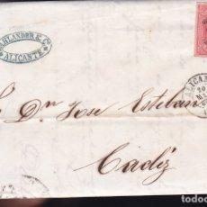 Sellos: F6-3- CARTA COMPLETA ALICANTE 1864. Lote 173610074
