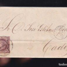 Sellos: F6-3- CARTA COMPLETA SEVILLA 1863. Lote 173610089
