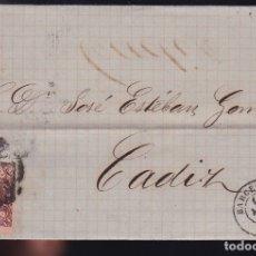 Sellos: F6-5- CARTA COMPLETA BARCELONA 1863. Lote 173610209