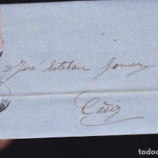 Sellos: F6-6- CARTA COMPLETA GIJON OVIEDO 1863. Lote 173610242