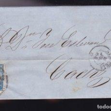 Sellos: F6-6- CARTA COMPLETA ALMERIA 1866. Lote 173610257