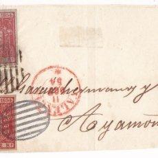 Sellos: F6-28- FALSO FILATELICO. FRONTAL VALENCIA-AYAMONTE 1854. Lote 173660092