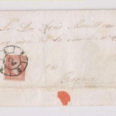 Sellos: CARTA ENTERA. OLESA DE MONTSERRAT. 1859. BONITA RUEDA DE CARRETA. BARCELONA. Lote 174462848