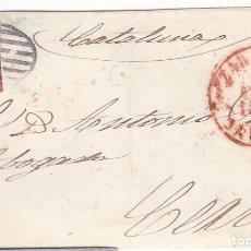 Sellos: F8-1- FALSO FILATELICO. FRONTAL ZARAGOZA-CERVERA 1853. Lote 175179074