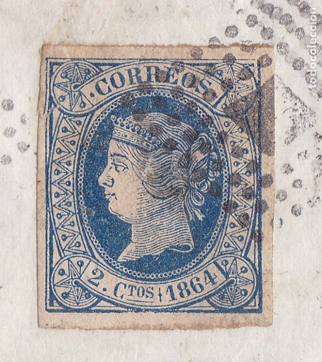 Sellos: F8-1- FALSO FILATELICO. Envuelta OVIEDO -FRANCIA 1864 - Foto 3 - 175179463