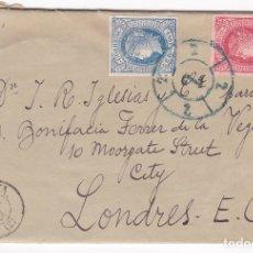 Sellos: F8-3- FALSO FILATELICO. CARTA COMPLETA BARCELONA - LONDRES 1864. Lote 175194490