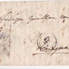Sellos: F8-4- FALSO FILATELICO. CARTA COMPLETA A ZARAGOZA 1865. Lote 175194843