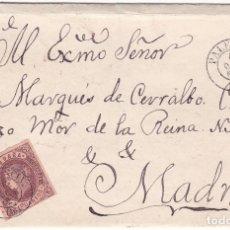 Sellos: F8-4- FALSO FILATELICO. ENVUELTA PALENCIA- MADRID 1862. Lote 175195050