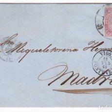 Sellos: F8-6- FALSO FILATELICO. ENVUELTA VIGO-MADRID 1865. . Lote 175196388