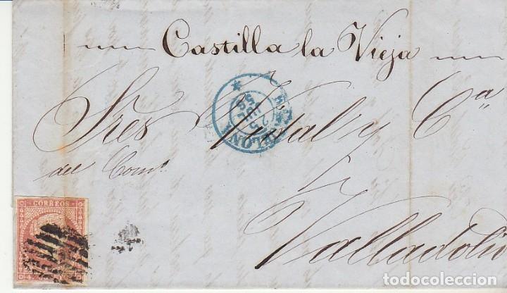 SELLO 48. ISABEL II. BARCELONA A VALLADOLID. 1856. (Sellos - España - Isabel II de 1.850 a 1.869 - Cartas)