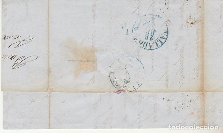 Sellos: Sello 48. ISABEL II. BARCELONA a VALLADOLID. 1856. - Foto 2 - 175197007