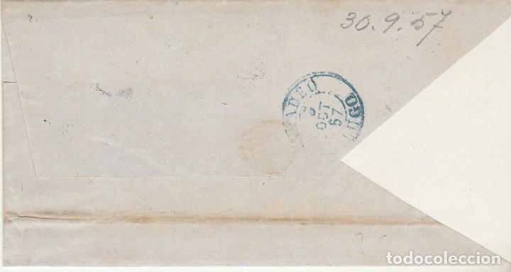 Sellos: FRONTAL. Sello 48. ISABEL II. GIJON a RIVADEO 1857 - Foto 2 - 175197232