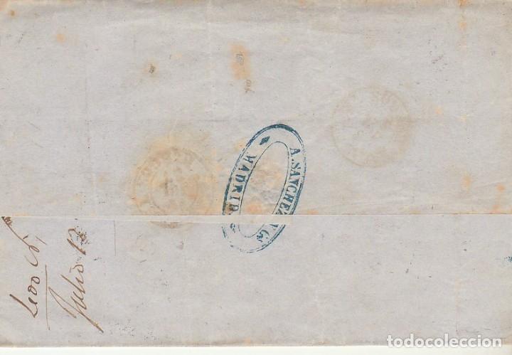 Sellos: FRONTAL. Sello 48. ISABEL II. MADRID a SALAS de los INFANTES. 1857 - Foto 2 - 175197410