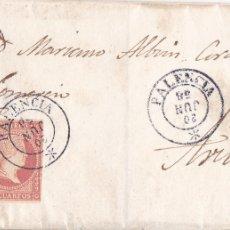 Sellos: F8-8- FALSO FILATELICO. ENVUELTA PALENCIA- AVILA 1858. Lote 175197560