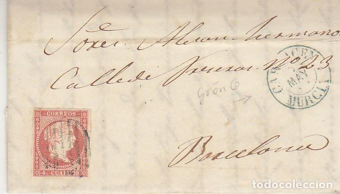 SELLO 48. CARTAGENA A BARCELONA. 1857 (Sellos - España - Isabel II de 1.850 a 1.869 - Cartas)