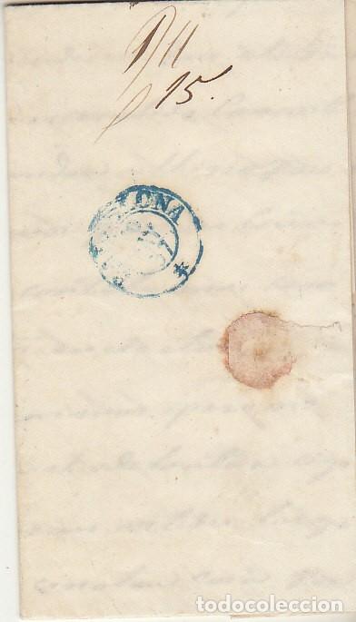 Sellos: Sello 48. CARTAGENA a BARCELONA. 1857 - Foto 2 - 175198130