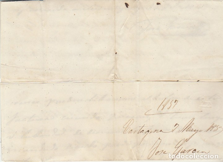 Sellos: Sello 48. CARTAGENA a BARCELONA. 1857 - Foto 3 - 175198130